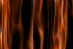 Orange abstract flame like background - digital animation Stock Footage