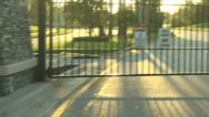 Stock Video Footage of Gated Community
