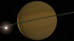 Saturn flyby 1080p Stock Footage