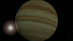 Jupiter flyby 1080p - stock footage