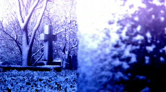 Gravecross rack focus Stock Footage