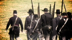 Union soldiers (summer2) Stock Footage