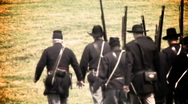 Stock Video Footage of union soldiers (summer2)