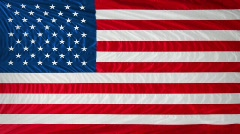 US flag page curl Stock Footage