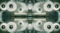 Laptop cogs technology computer gears Stock Footage