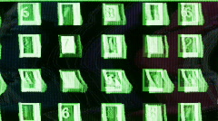 Digital numbers sequence computer abstract Stock Footage