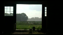 Storm barn Stock Footage