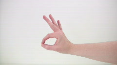 HDV: OK and Pointing Hand Signs Stock Footage