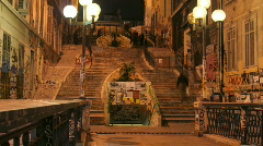 Cour julian steps marseille france Stock Footage