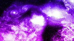 Galaxy colliding Stock Footage