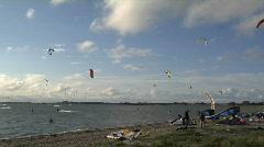 Fehmarn Kitesurfing Beach  Stock Footage