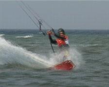 Kitesurfing Kiel Laboe Stock Footage