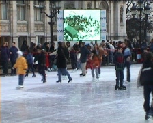 Ice Rink Stock Footage