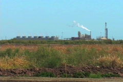 Salton Sea Geothermal Power Plant Stock Footage