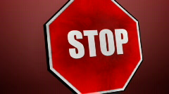Stop sign (english) Stock Footage