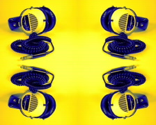 Headphones music hifi stereo sound audio Stock Footage