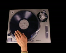 Dex crowd turntable music dj party vinyl Stock Footage