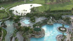 Tropical tourist resort - stock footage