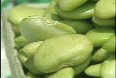 Healthy Lima Beans Pan Stock Footage