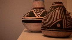 Ancient pottery Stock Footage