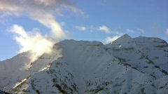 Winter mountain peak lapse HD Stock Footage