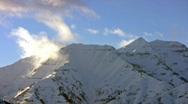 Winter mountain peak lapse HD Stock Footage