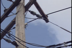 Electrical Power Lines - Pull Stock Footage