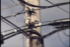 Electrical Power Lines - Pan Stock Footage