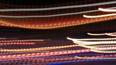night lights abstract urban city neon rush - stock footage