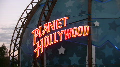 Planet Hollywood restaurant Stock Footage