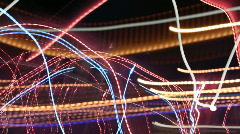 Night lights abstract urban city neon rush Stock Footage