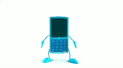 Jumping mobile phone - stock footage