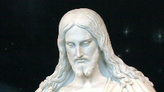 Christ pan face to hand HD Stock Footage
