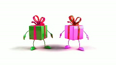 Happy gifts Stock Footage