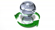 World recycle Stock Footage