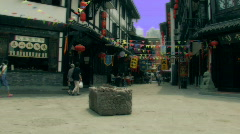 An old street by the Wenshu Temple in Chengdu, China Stock Footage