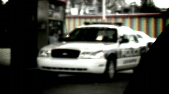 Cop gas station (artistic) Stock Footage