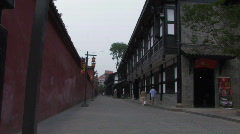 An old street by the Wenshu Temple in Chengdu, China - stock footage