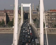 Elisabeth Bridge (Budapest) Stock Footage
