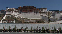 Potala in Lhasa, Tibet Stock Footage