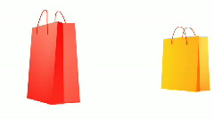 FIVE SALE BAGS  Stock Footage