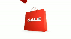 THREE SALE BAGS ZOOM  Stock Footage