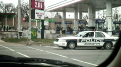 Policecarstoplight Stock Footage