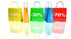 Shopping bags Stock Footage