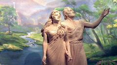 Adam and Eve garden of Eden pan HD Stock Footage