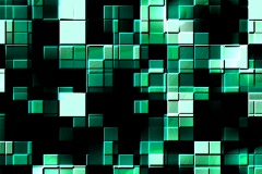 3d embossed colorful blocks - digital animation Stock Footage