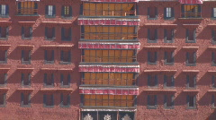 Zoom out of Potala in Lhasa, Tibet Stock Footage