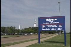 Space & Rocket Center Huntsville Al ZOOM IN Stock Footage