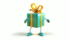 Gift dancing Stock Footage