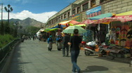 Stock Video Footage of Street in lhasa, Tibet